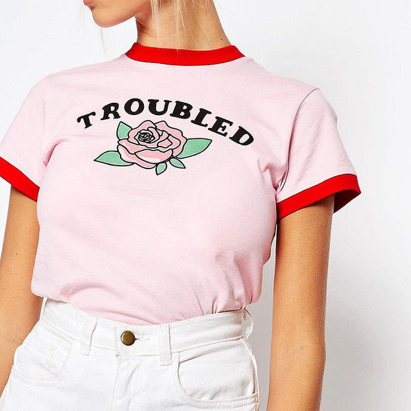 Troubled Tee, , , PINK IN TŌKYŌ  - 1