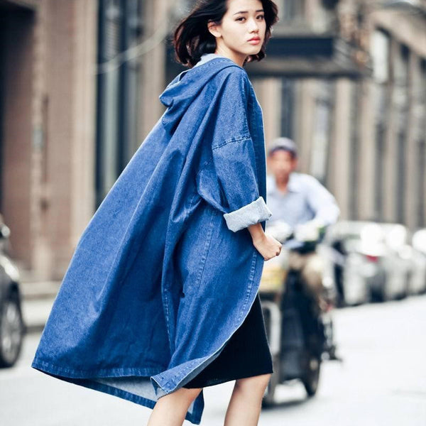 Juku Denim Trench - Blue, S/M, , PINK IN TŌKYŌ  - 1