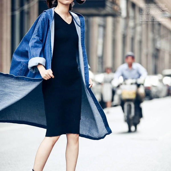 Juku Denim Trench - Blue, , , PINK IN TŌKYŌ  - 4