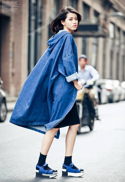 Juku Denim Trench - Blue, , , PINK IN TŌKYŌ  - 3