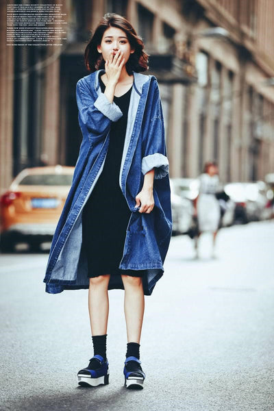 Juku Denim Trench - Blue, , , PINK IN TŌKYŌ  - 7