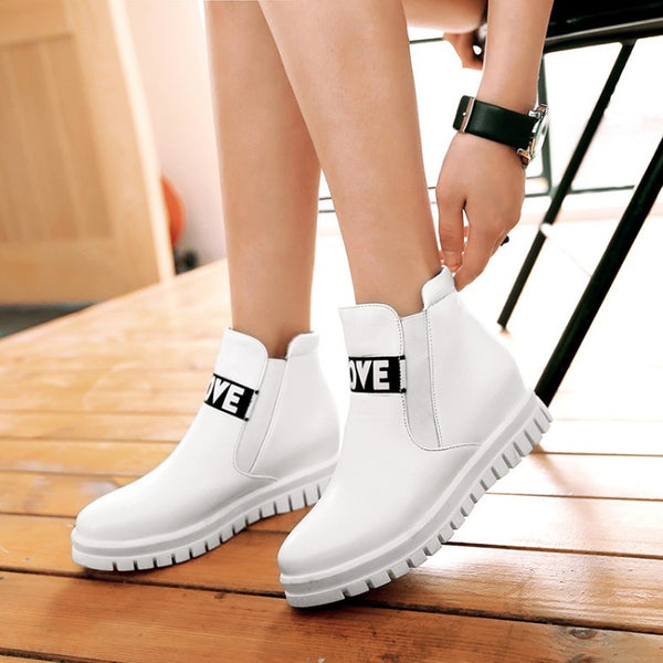 Love Front Boots - White