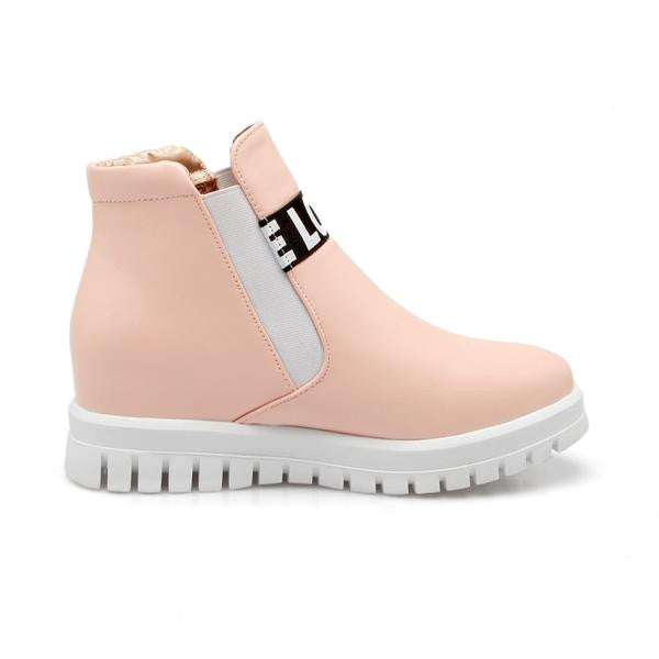 Love Front Boots - Pink
