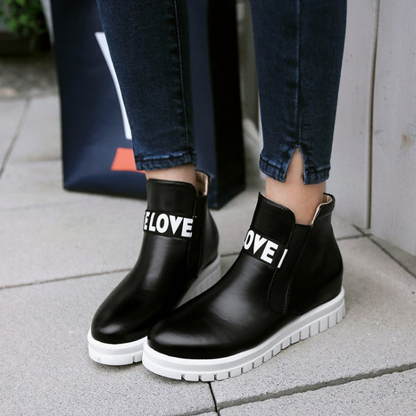 Love Front Boots - Black