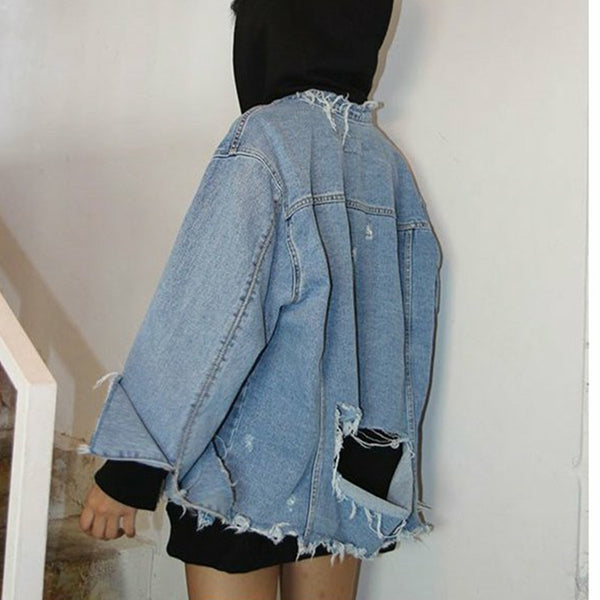 Tattered Denim Jacket