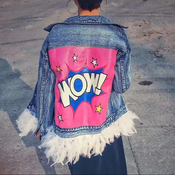 WOW Denim Jacket - White