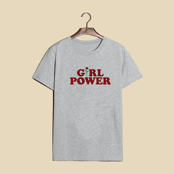 Girl Power Tee - Gray