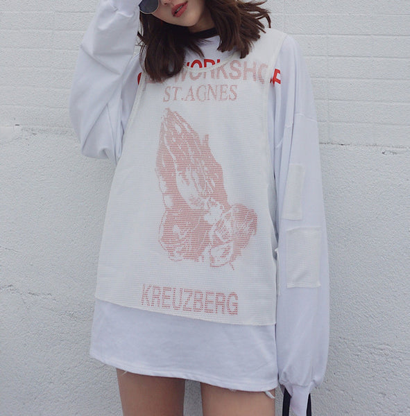 Praying Hands Sweatshirt Dress