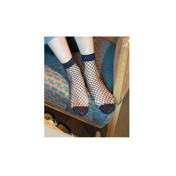 Short Fishnet Socks - Black