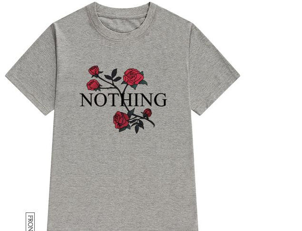 Nothing Tee- Gray