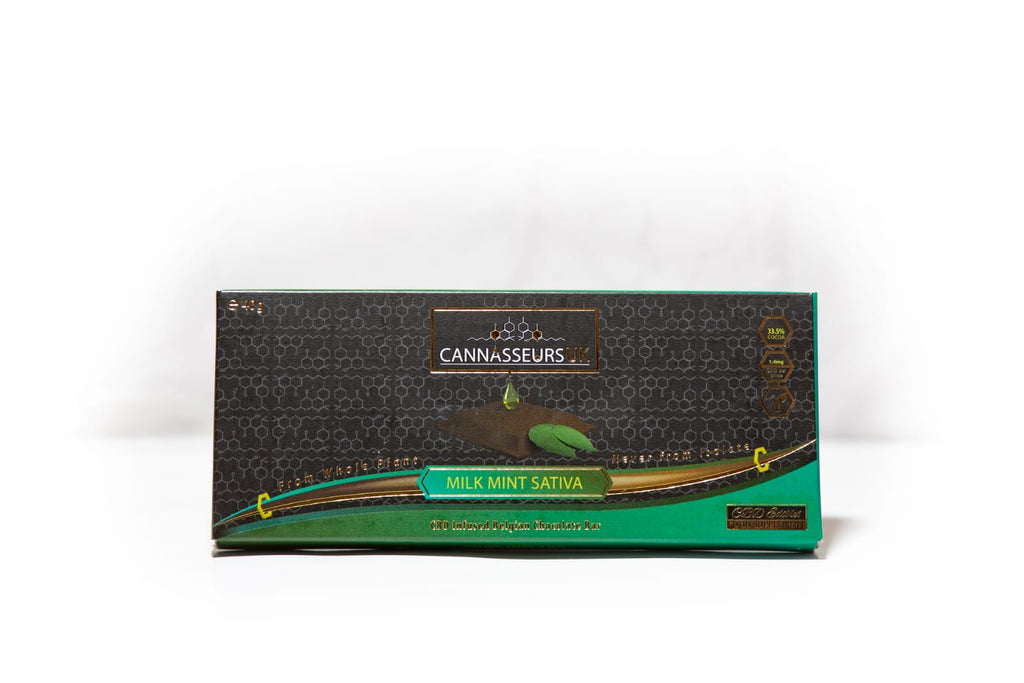 CBD Mint Belgian Chocolate Bar