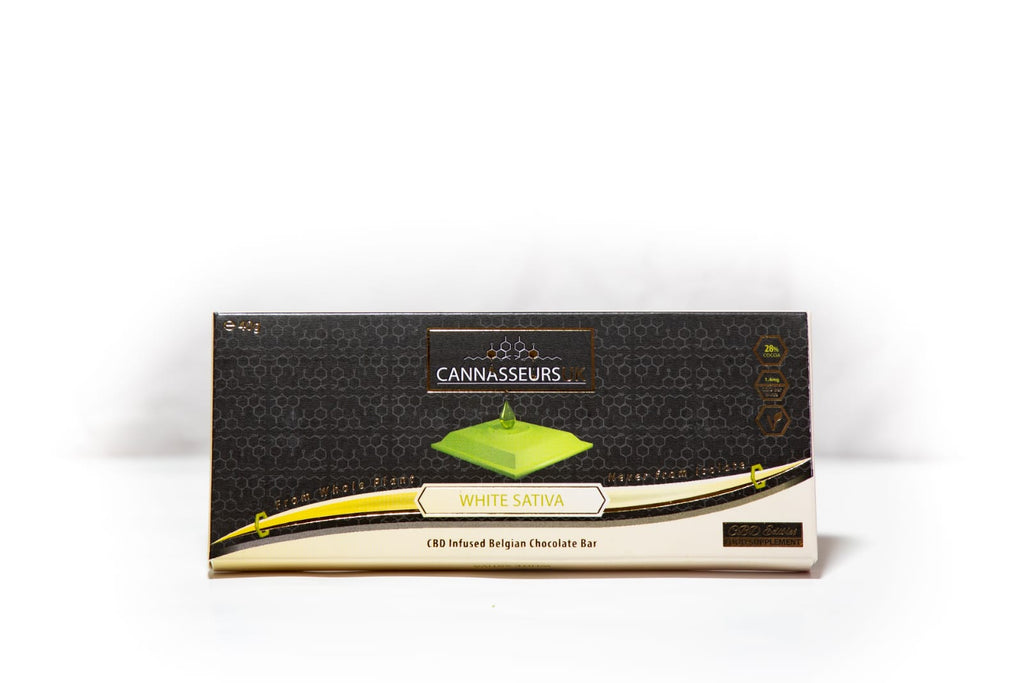 CBD Belgian White Chocolate Bar