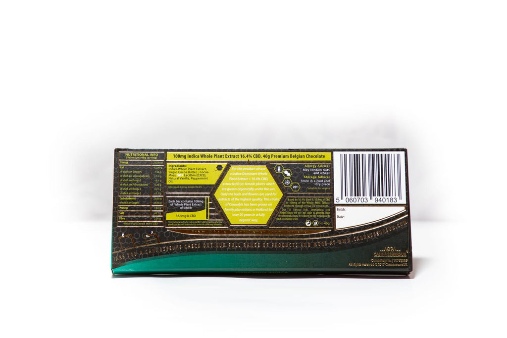 CBD Mint Dark Chocolate Bar
