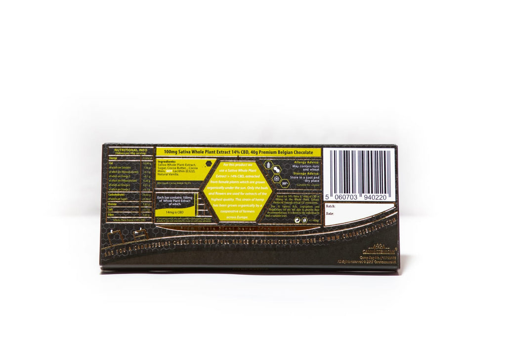CBD Dark Belgian Chocolate Bar