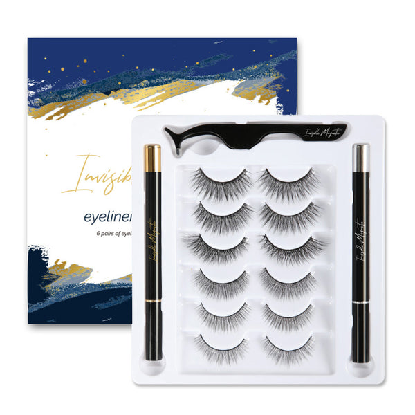 Invisible Magnetic Eyeliner & Eyelashes Kit (6 Pairs)