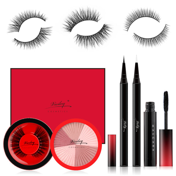 Viciley Magic Eyeliner & Lash Kit (3 Pairs) - Premium