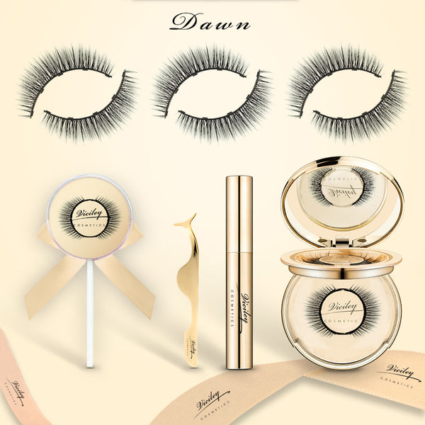 Viciley Magnetic Lashes Kit (3 Pairs) - Golden Gift Package/Dawn