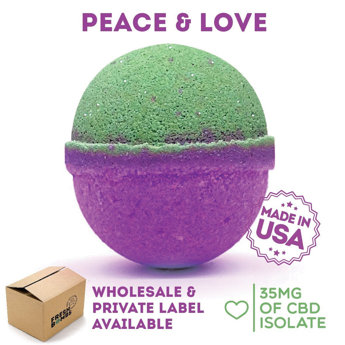 Fresh Bombs CBD Peace and Love | CBDelites | Free UK Shipping