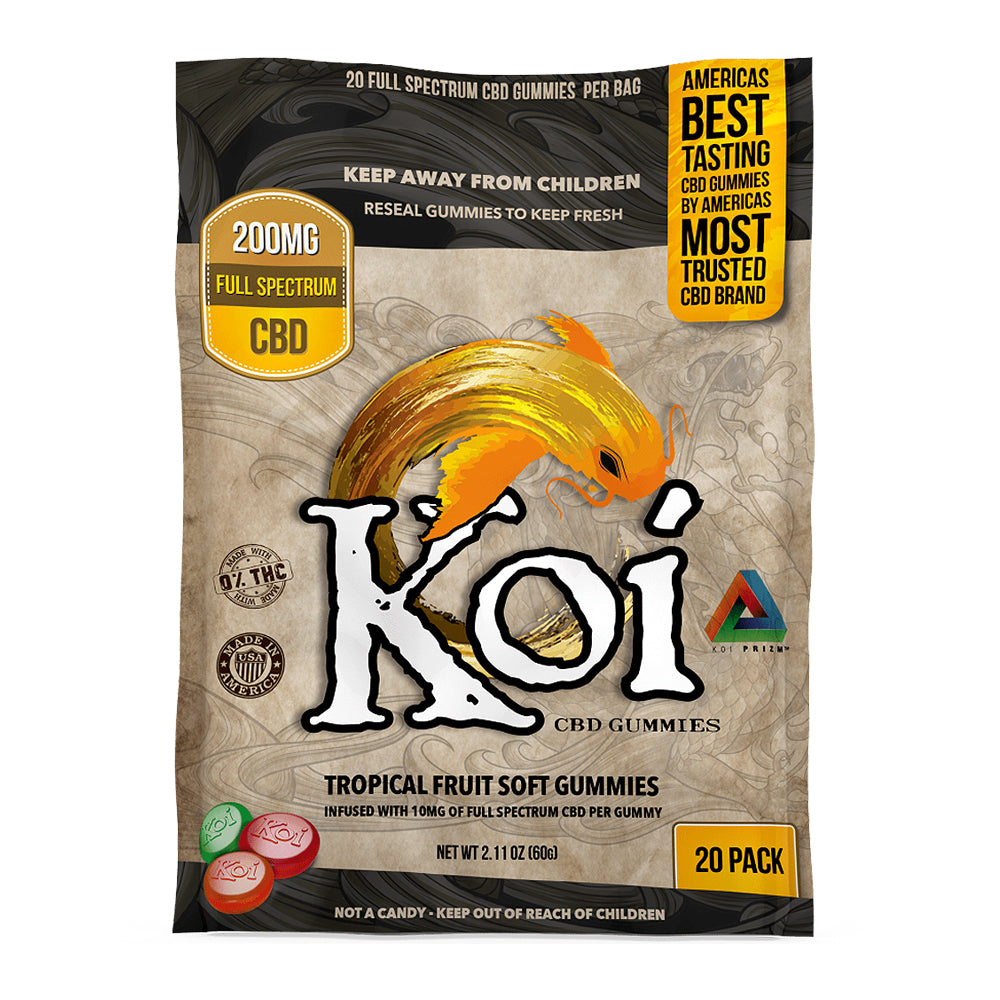 Koi Tropical CBD Gummies | CBdelites | Free UK Shipping