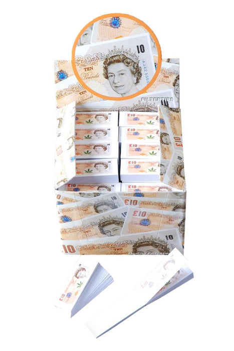Filter Tips - £10 note design