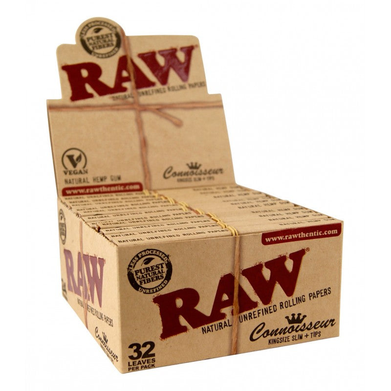 RAW King Size Organic Hemp Papers and Tips