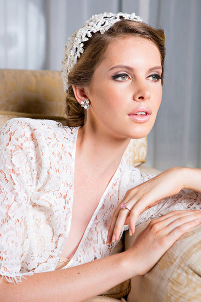 Lace Bridal Robe Homebodii