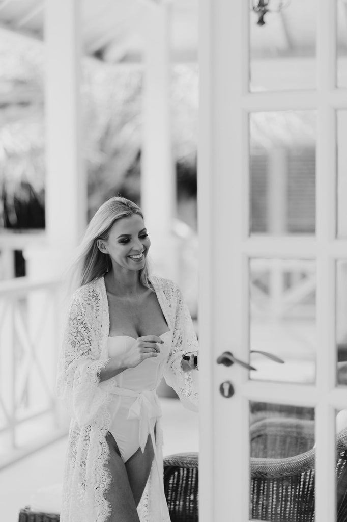 Hannah Polites Pre-wedding lace robe