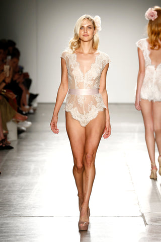 Ivory Lace bodysuit New York Fashion Week