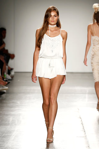 Chloe Beaded Playsuit NYFW