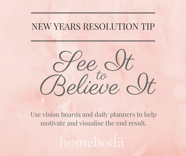 New Year's Resolution Tip: See it to believe it