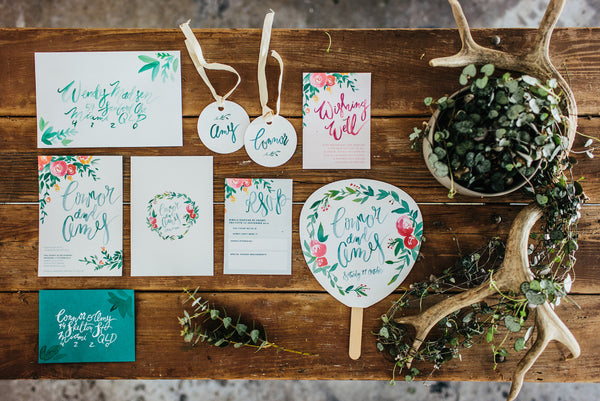 Fox and Fallow Wedding Stationary
