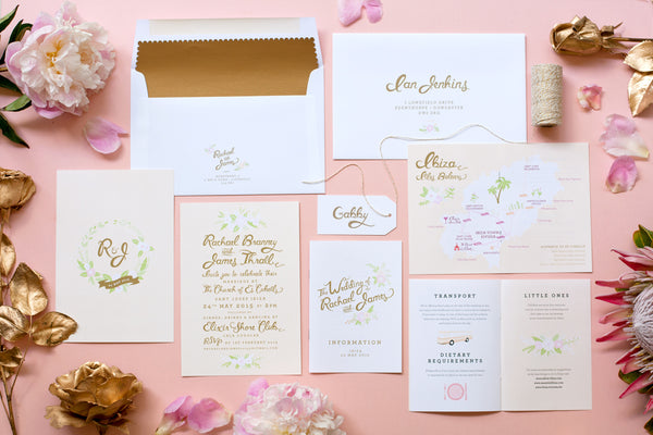 Fox and Fallow Custom Wedding Invites