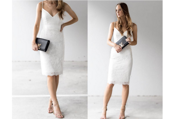 HBSHE dress From Luxe With Love white lace dress