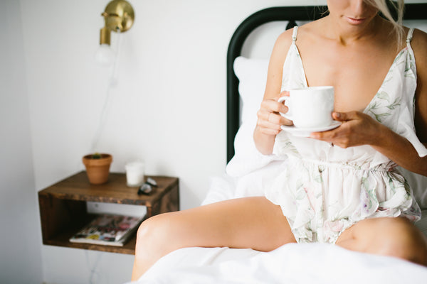 Sofia Romper breakfast in bed