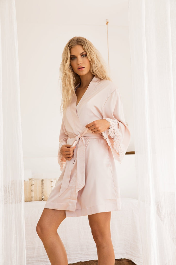 Blush Satin Robe Mother's Day Gift