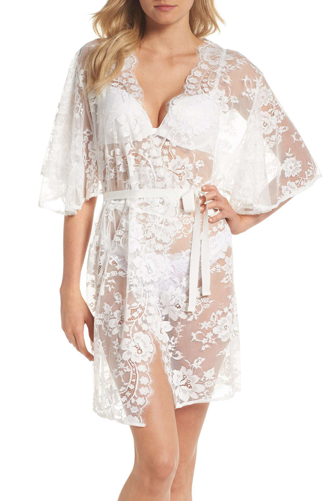 Nordstrom - Homebodii Kassiah Short Lace Robe