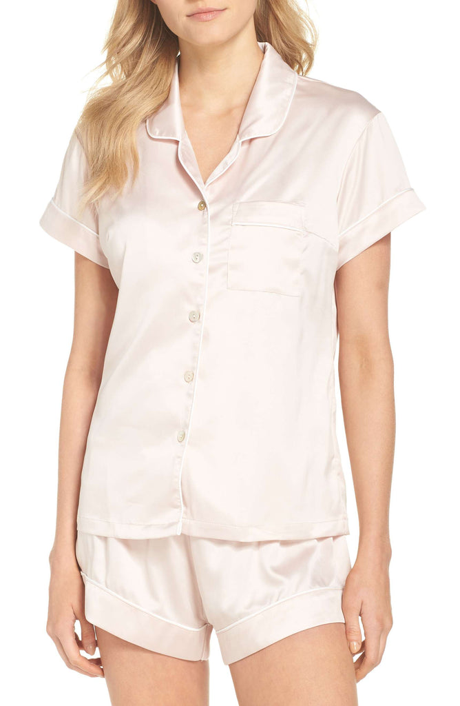 Nordstrom - Homebodii short Piping PJ Set - Blush