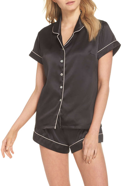 Nordstrom - Homebodii Short Piping PJ Set - Black
