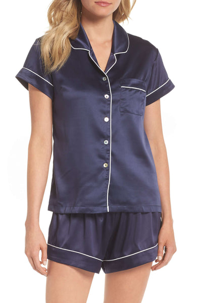 Nordstrom - Homebodii Short Piping PJ Set - Navy