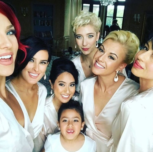 Peta Murgatroyd and Rumer Willis in Homebodii Bridal Robes