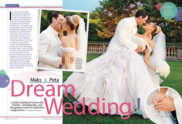 Peta and Maks Dream Wedding in Us Weekly