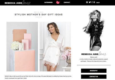 Rebecca Judd Loves Mother's Day post for homebodii