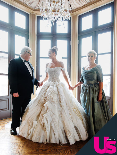 Peta Murgatroyd and her Parents before the weddding