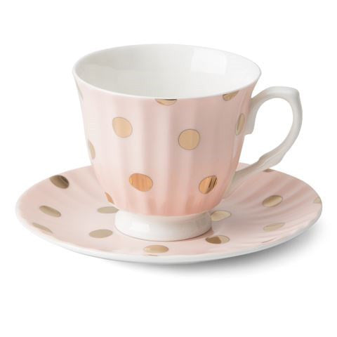 Teacup & Saucer (Peachy)