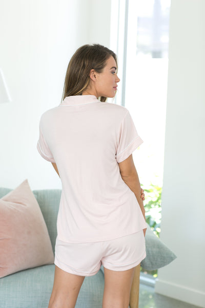 Petra Short PJ Set - Blush