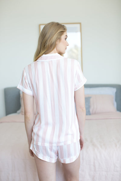 Blush Stripe Short PJ Set - Homebodii