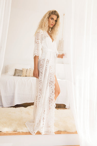 Willow Boho Lace robe - Homebodii