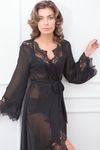 Elizabeth Long Lace Robe - Homebodii