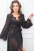 Elizabeth Long Lace Robe