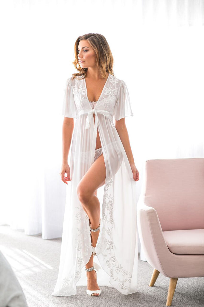 Claudia Embroidered Robe